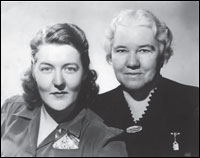 Sister Elizabeth Kenny (right) with her daughter, Mary. Photographs courtesy of Margaret Opdahl Ernest.
