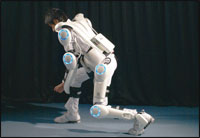 Robot Suit HAL™. Photograph courtesy of Professor Sankai, CYBERDYNE Inc./University of Tsukuba.