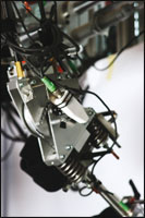 Close up of the LOPES bouden cable-driven series elastic actuator. Photograph courtesy of the University of Twente.