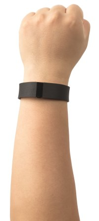 wrist with Fitbit