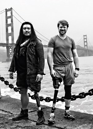 prostheses wearers at Golden Gate bridge