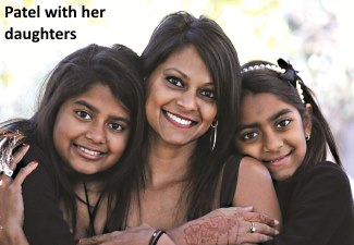 Mona Patel and her daughters