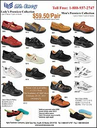 Apis Footwear Lady's and Men's Premiere Collections. Medicare approved, genuine leather uppers, solid EVA outsole, easy to modify, and extremely light ...