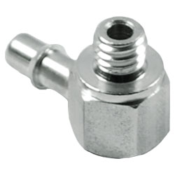 """90 Degree Stainless Steel 10/32 to 1/8"""" Barb"""