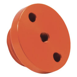 Aluminum Vacuum Valve Housing (Orange)